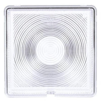 Truck-Lite 8007 Square, Clear, Acrylic, Replacement Lens, Snap-Fit