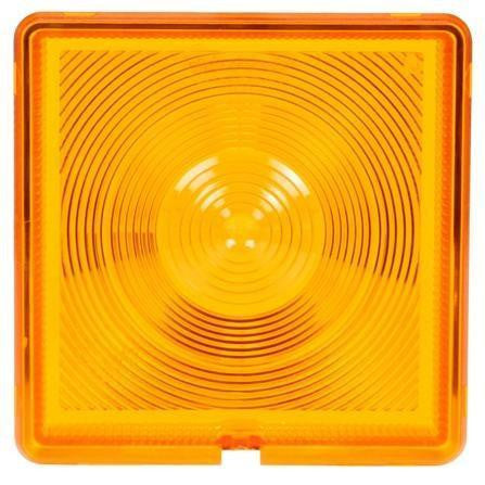 Truck-Lite 8008 Square, Yellow, Acrylic, Replacement Lens, Snap-Fit