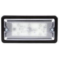 Truck-Lite 80164C 80 Series, LED, 6 Diode, Clear, Rectangular, Dome Light, 4 Screw Bracket, 12V