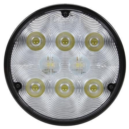 Truck-Lite 80220 4 in Round LED Work Light Black 8 Diode 500 Lumen Stripped End 12-36V