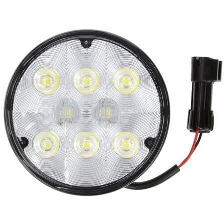 Truck-Lite 80240 4 in Round LED Work Light Black 8 Diode 500 Lumen Deutsch Connector 12-36V