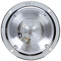 Truck-Lite 80351 Clear 80 Series, Round Incandescent 1 Bulb, Chrome Dome Light 12V