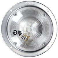 Truck-Lite 80352 80 Series, Incan., 1 Bulb, Clear, Round, Dome Light, Silver Bracket, 12V