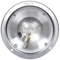 Truck-Lite 80353 80 Series, Incan., 1 Bulb, Clear, Round, Dome Light, Silver Bracket, 12V