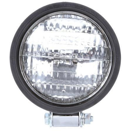Truck-Lite 80375 Par 36 5 in Round Incandescent Work Light Black 1 Bulb Stripped End 24V