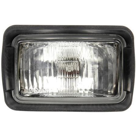 Truck-Lite 80388 Driving Beam 4x6 in Rectangular Halogen Work Light Black 1 Bulb Stripped End 12V