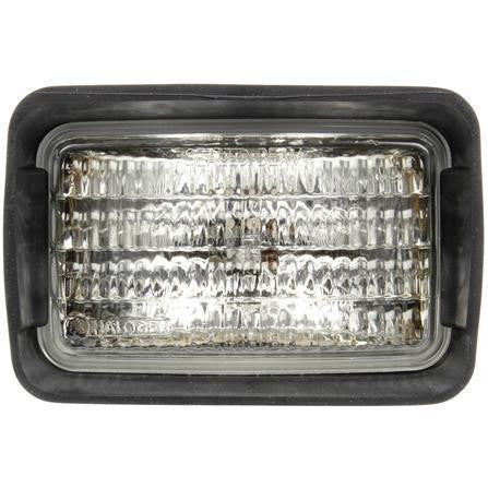 Truck-Lite 80394 4x6 in Rectangular Halogen Work Light Black 1 Bulb Stripped End 12V