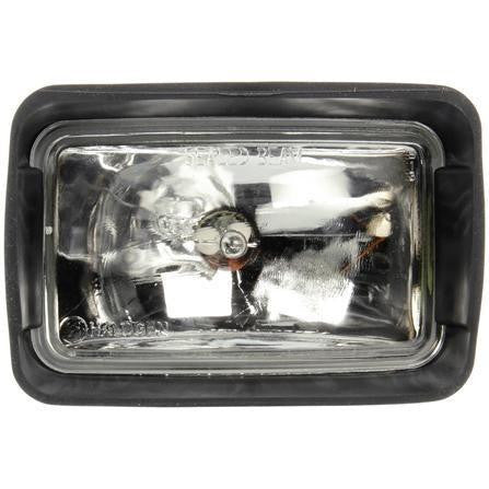 Truck-Lite 80397 80 Series, Universal Mount 4x6 in. Rectangular Halogen Spot Light, Black, 1 Bulb, 12V