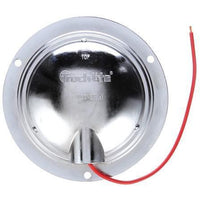 Truck-Lite 80423C 80 Series, Incan., 1 Bulb, Hook-Up, Clear, Round, Dome Light, Chrome Flange, 12V