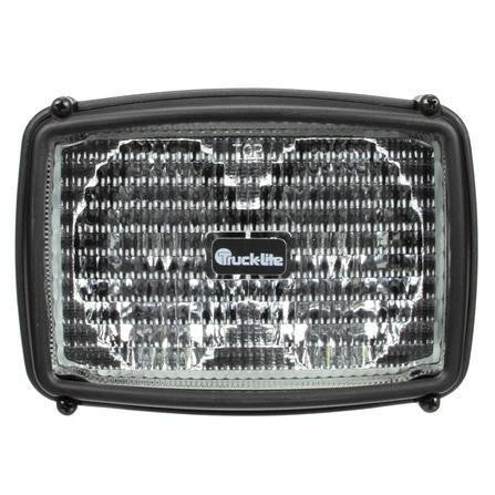 Truck-Lite 80491 80 Series Two Beam 4x6 In Rectangular Halogen Flood Light Black 2 Bulb 12V