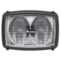 Truck-Lite 80492 80 Series, Two Beam 4x6 in. Rectangular Halogen Spot Light, Black, 2 Bulb, 12V