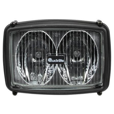 Truck-Lite 80498 Two Beam 4x6 in Rectangular Halogen Work Light Black 2 Bulb 1450 Lumen Stripped End 12V