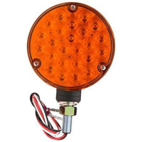 Truck-Lite 80867 LED, Amber Round, 24 Diode, Black, 3 Wire, Pedestal Light
