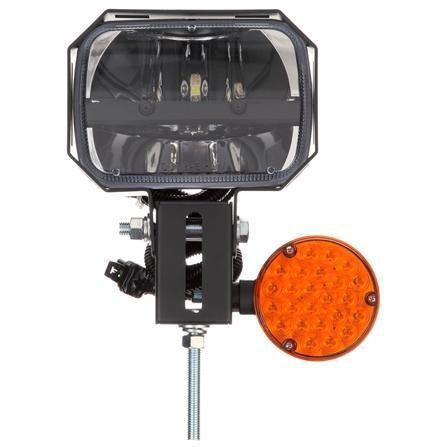 Truck-Lite 80873 LH Side, LED, 5 x 7 in. Rectangular, Snow Plow Light, 12-24V