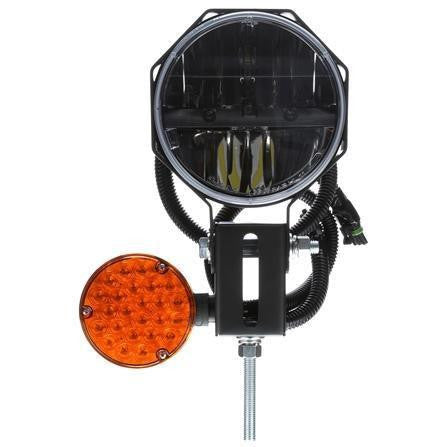 Truck-Lite 80878 RH Side, LED, 7 in. Round, Snow Plow Light, 12-24V
