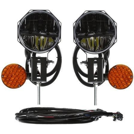 Truck-Lite 80880 Universal, LED, 7 in. Round Snow Plow Light, 12-24V Kit