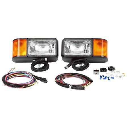 "Truck-Lite 80888 Universal Halogen 4 x 6"" Rectangular Snow Plow Lights"