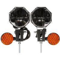 Truck-Lite 80990 Heated Lens, LED, 7 in. Round, Snow Plow Light KIT 12-24V, Plow Lights, Truck-Lite