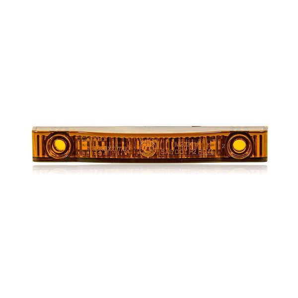 "Maxxima M20341Y Amber LED 4"" Rectangular P2PC Low Profile Clearance Marker Light"