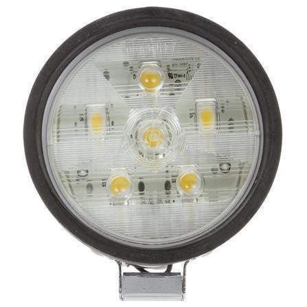 Truck-Lite 81261 81 Series 4 in. Round LED Work Light, Black, 6 Diode, Stripped End, 12V