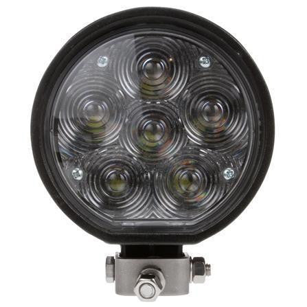 Truck-Lite 81290 81 Series Aux. 4 in. Round LED Spot Light, Black, 6 Diode, 24V