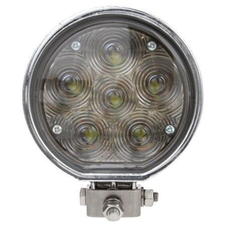 Truck-Lite 81295 81 Series Aux. 4 in. Round LED Spot Light, Chrome, 6 Diode, 24V