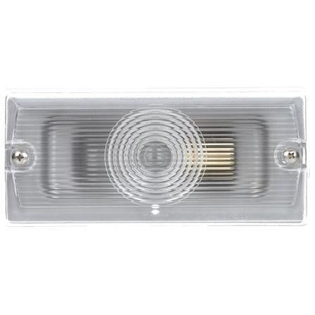 Truck-Lite 81350 Incan., 1 Bulb, Clear, Rectangular, Dome Light, 2 Screw Bracket, 12V