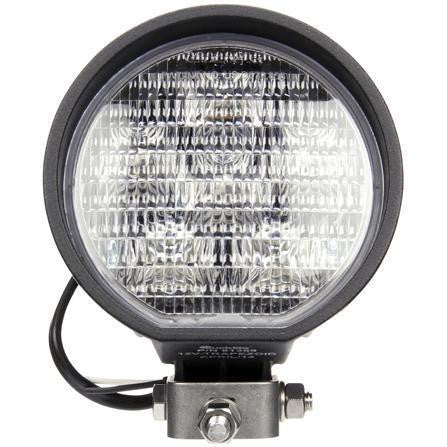 Truck-Lite 81360 81 Series 4 in Round LED Work Light Black 6 Diode 500 Lumen Stripped End 12V