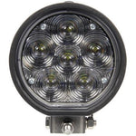 Truck-Lite 81390 81 Series Aux. 4 in. Round LED Spot Light, Black, 6 Diode, 12V