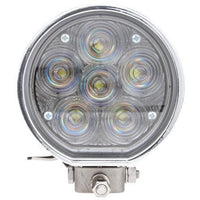 Truck-Lite 81395 81 Series Aux. 4 in. Round LED Spot Light, Chrome, 6 Diode, 12V