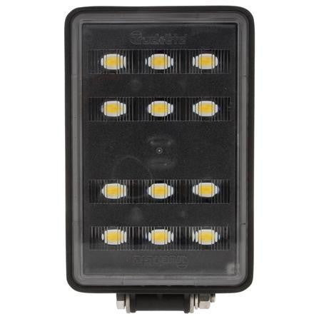 Truck-Lite 81560 81 Series Forklift 4x6 in Rectangular LED Work Light Black 12 Diode 766 Lumen Stripped End 12-48V