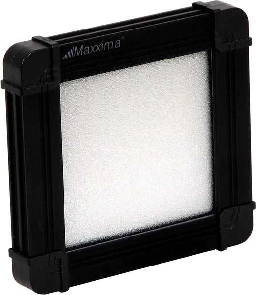"Maxxima M84414-BCW Wafer Thin Cool White LED 3.4"" X 3.2"" Flat Panel Interior Light w/ Black Housing"