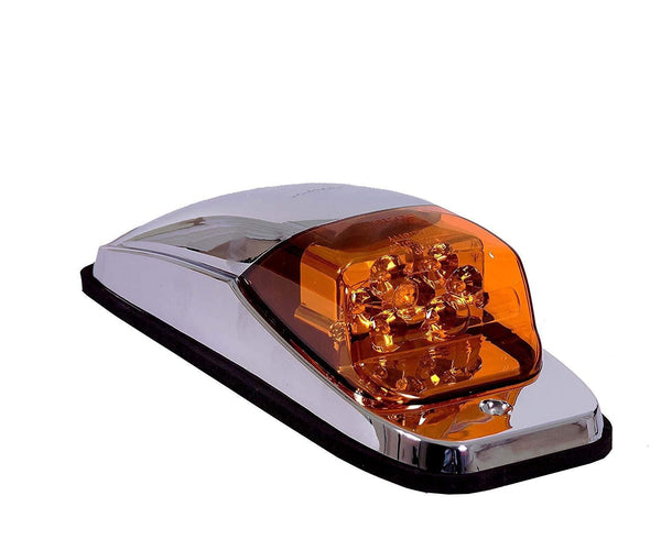 Maxxima M27011Y Amber Peterbilt Chrome Cab Marker Light