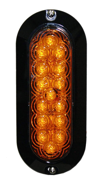 Maxxima M63320Y Amber 15 LED Oval Park Front/Rear Turn Light, Surface Mount