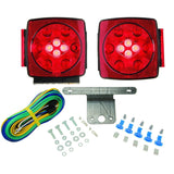 Blazer C7425 - RED LED Submersible Trailer Light Kit, With Integrated Back-UP Lights - Levine Auto and Truck Lighting