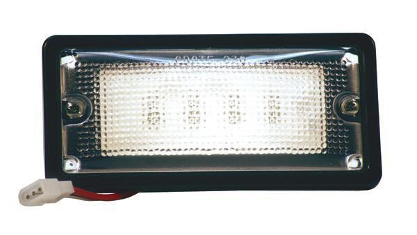 Grote 82080 LED White Light™ Black Recessed Small Mount, 6 Diodes, Red/White Dome Tyco Light, 150 Lumens, 10-30V - Levine Auto and Truck Lighting
