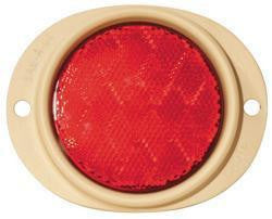 Grote 82562 Red Steel Two-Hole Mounting Reflector, Desert Tan Housing w/ Gasket