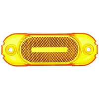 Truck-Lite 8900A Rectangular, Yellow, Polycarbonate, Replacement Lens for, 2 Screw, Replacement Lens, Truck-Lite