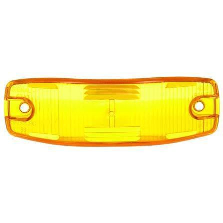 Truck-Lite 8918A Rectangular, Yellow, Polycarbonate, Replacement Lens, 2 Screw