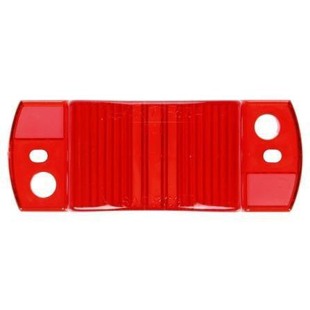 Truck-Lite 8930 Rectangular, Red, Acrylic, Replacement Lens, 2 Screw
