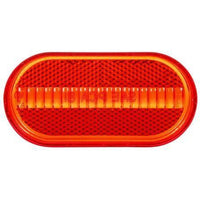 Truck-Lite 8933 Oval, Red, Acrylic, Replacement Lens, Snap-Fit
