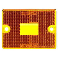 Truck-Lite 8947A Rectangular, Yellow, Acrylic, Replacement Lens, 2 Screw