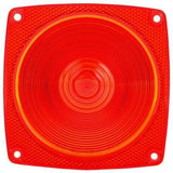 Truck-Lite 8948 Square, Red, Acrylic, Replacement Lens for Trailer Lights (533DK, 534D, 535D), Replacement Lens, Truck-Lite