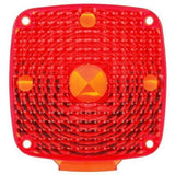 Truck-Lite 8960 Square, Red, Acrylic, Replacement Lens for Pedestal Lights (940, 941, 950, 955, 956, 957), Replacement Lens, Truck-Lite