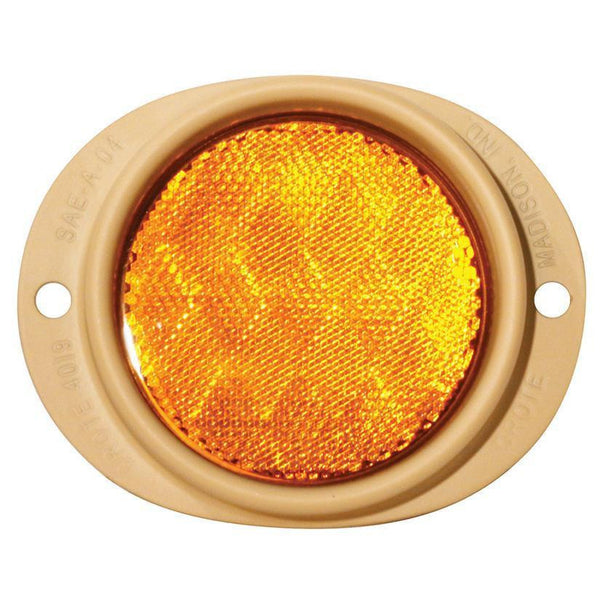 Grote 82563 Yellow Steel Two-Hole Mounting Reflector, Desert Tan Housing w/ Gasket