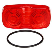 Truck-Lite 9006 Oval, Red, Acrylic, Replacement Lens, Snap-Fit