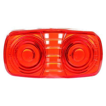 Truck-Lite 9007 Rectangular, Red, Acrylic, Replacement Lens, Snap-Fit