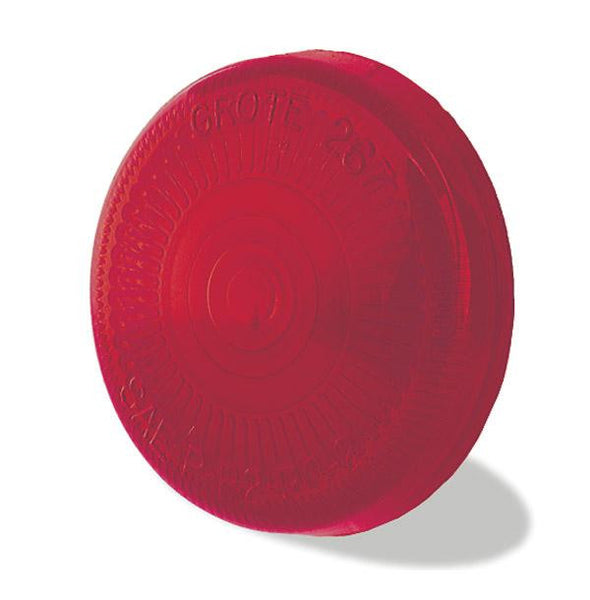 "Grote 90162 Red 2 1/2"" Surface Mount, Clearance Marker Replacement Lens"