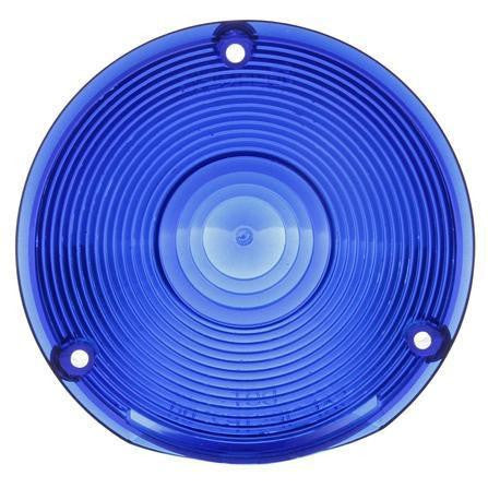 Truck-Lite 9016B Circular, Blue, Acrylic, Replacement Lens, 3 Screw