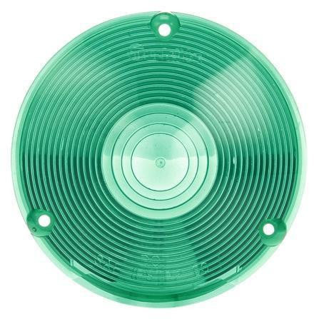 Truck-Lite 9016G Circular, Green, Acrylic, Replacement Lens, 3 Screw
